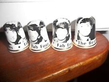 THE BEATLES FOUR BONE CHINA THIMBLES BRAND NEW. MADE IN ENGLAND FAB FOUR ACE !