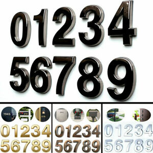 4 Inch Self Adhesive Mailbox Numbers Metal Brush Door Address House Sign Numbers