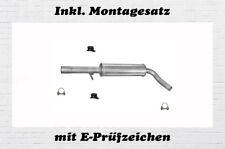VW Golf IV 4 1.4 1.6 1.9 SDI Mittelschalldämpfer Auspuff Mitteltopf Montagesatz