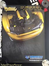 2015 VORTECH SUPERCHARGERS POSTER YELLOW JACKET FORD MUSTANG GT SHELBY BOSS 5.0