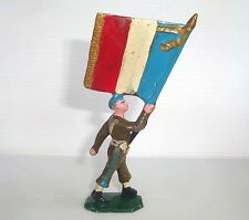 Figurine cyrnos époq. starlux clairet jim : soldat porte drapeau n°3