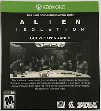 """Alien Isolation """"Crew Expendable"""" DLC Add-On for Xbox One X1"""