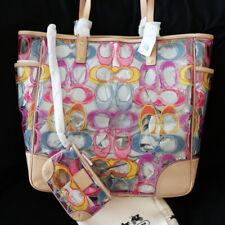 NEW COACH Dream Multi Signature Beach XL Clear Weekend Tote Shoulder Bag $398