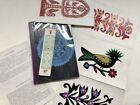 "8 Lowicka Poland Polish Wycinanka Folk Art Paper Cuts 11.25"" x 7.5"" in Booklet"