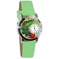 Whimsical Watches Women's S0140004 Turtles Light Green Leather Watch