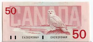 Bank of Canada 1988 $50 Fifty Dollars Thiessen-Crow EHZ Prefix UNC