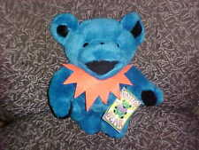 "12"" Blue Jointed Grateful Dead Plush Bear W/Tags 1990 Liquid Blue"