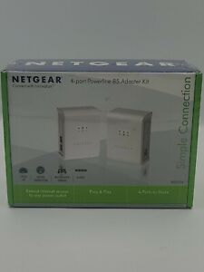NETGEAR XEB1004 4-Port Powerline 85 Adapter Kit XEB1004100NAS Brand New
