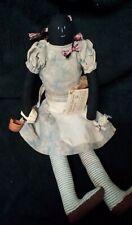 Handmade Primitive Folk Art Cloth Doll By Artist Virginia Killmore