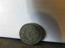 suisse switzerland piece monnaie coin 5 centimes rappen 1874  9616