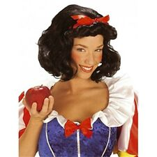 Fairy Tale Bianca W/ Ribbon For Snow White Wig For Fancy Dress Costumes & - Red