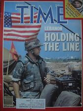 TIME MAGAZINE OCTOBER 3 1983 LEBANON HOLDING THE LINE THE WAR POWERS