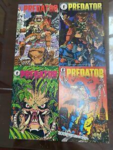 Predator #1-4 (Dark Horse Comics, 1989) Complete Set 1st Predator 1 2 3 4 NM lot