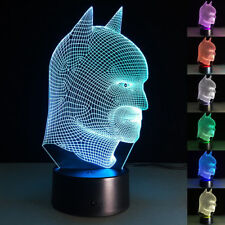 3D LED Night Light Batman Touch Swift Desk Table Bed Lamp Kids Gifts 7 Colour