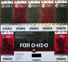 2017 Ohio State Buckeyes Football Season Ticket Sheet - EXCELLENT CONDITION!