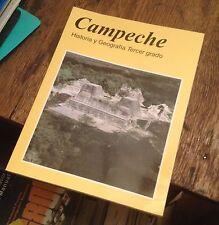 CAMPECHE Historia y Geografia TERCER GRADO 2002 SPANISH Free US Shipping MEXICO