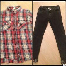 ZARA ensemble jean + chemise fille taille 12/14 ans