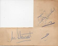 PETER LOADER & MICKEY STEWART - Signed Page - CRICKET