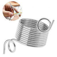 Finger Wear Yarn Spring Guides  Stainless Steel Thimble Ring Knitting Tools