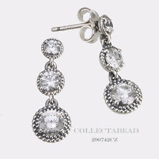 Authentic Pandora Silver Eternal Elegance Clear CZ Stud Earrings 290742CZ