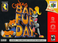 """Nintendo 64 N64 CONKER'S BAD FUR DAY Box Cover  8.5""""x11""""  Game Wall Poster Decor"""