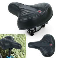 Comfort Extra Wide Big Bum Bike Bicycle Cycling Gel Cruiser Soft Pad Saddle Seat