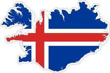 Autocollant sticker adhesif voiture vinyle drapeau carte islande