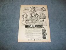 """1978 GE General Electric Hand-Held CB Vintage Ad """"Keep in Touch"""""""