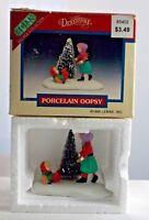 """Vintage 1995 Lemax Dickensvale Oopsy Porcelain Figurine #53138 (2 1/2"""") """"05"""