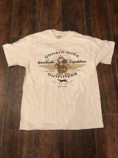 Disney Store Donald Duck Vintage Off White T-Shirt Walt Disney Studios Sz L
