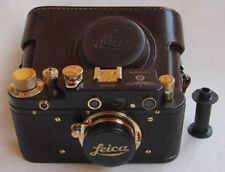 Leica III Luftwaffe copy black-gold in leather case (FED copy)