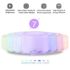 500ml Aromatherapy Essential Oil Diffuser Aroma Humidifier 7 Colors LED Atomizer