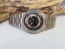 USED VINTAGE OMEGA DYNAMIC BLACK & SILVER DIAL DATE AUTOMATIC MAN'S WATCH