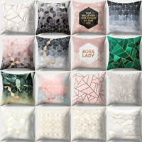 Fashion Sofa Bolster Covers Geometric Home Cushion Cover Bed Pillow Case 45X45CM