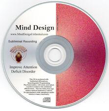 Improve Attention Deficit Disorder ADD / ADHD - Subliminal Audio Program - Contr