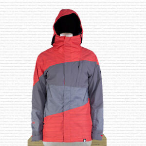 Ride Georgetown Shell Snowboard Jacket Mens Large Reorange and Gray New