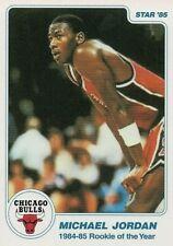 1985 STAR MICHAEL JORDAN 1984-85 ROOKIE OF THE YEAR #1/11 RETRO REPRINT NBA CARD