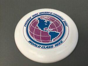 "Vintage Wham-O Frisbee Disc World Class 165G 1980 11""  Frisbee White / Pink"