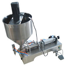 100-1000ml Liquid Paste Filling Mixing Machine 50L Speed-Control Hopper 110V