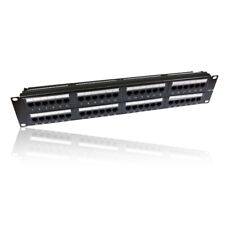 "2U 19"" Rackmount 48 Port/ Way RJ45 Patch Panel Cat5e Cat5 Cat 5e Ethernet Ports"