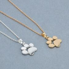 Gold Silver Cat Dog Animal Paw Necklace