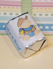 30 Baby Shower Its a Boy Cowboy Hershey Candy Nugget Wrappers Stickers