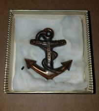 VTG Navy Hat Badge Emblem Anchor Marked Erie PA