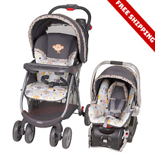 Foldable Baby Kids Travel System Stroller Newborn Infant Pushchair With Car Seat