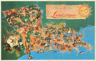 Pictorial+Tourist+Map+Of+Louisiana+10%22x16%22+Wall+Art+Poster+Print+Home+Decor