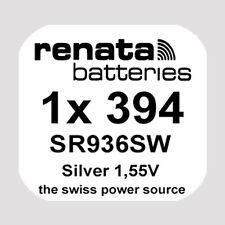 1x Renata 394 Uhren-Batterie Knopfzelle SR936SW AG9 Silberoxid Blisterware Neu