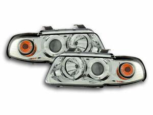 Coppia fari fanali anteriori Design Audi A4 B5/8D 99-01 Cromato 4250414627348