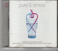 (FH596) Pure & Simple, 40 tracks various artists - 2CD - 2001 CD