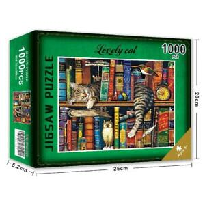 Sleepy Cat 1000 Piece Jigsaw Puzzle for Adults Learning Educational Puzzle