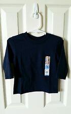 NWT Garanimals Boy 12 Months Long Sleeve Shirt Navy Blue Mix N Match Winter Fall